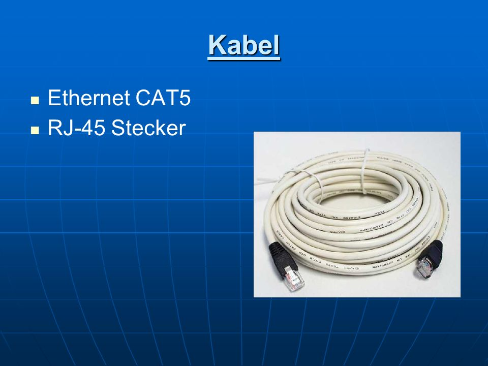 Kabel Ethernet CAT5 RJ-45 Stecker