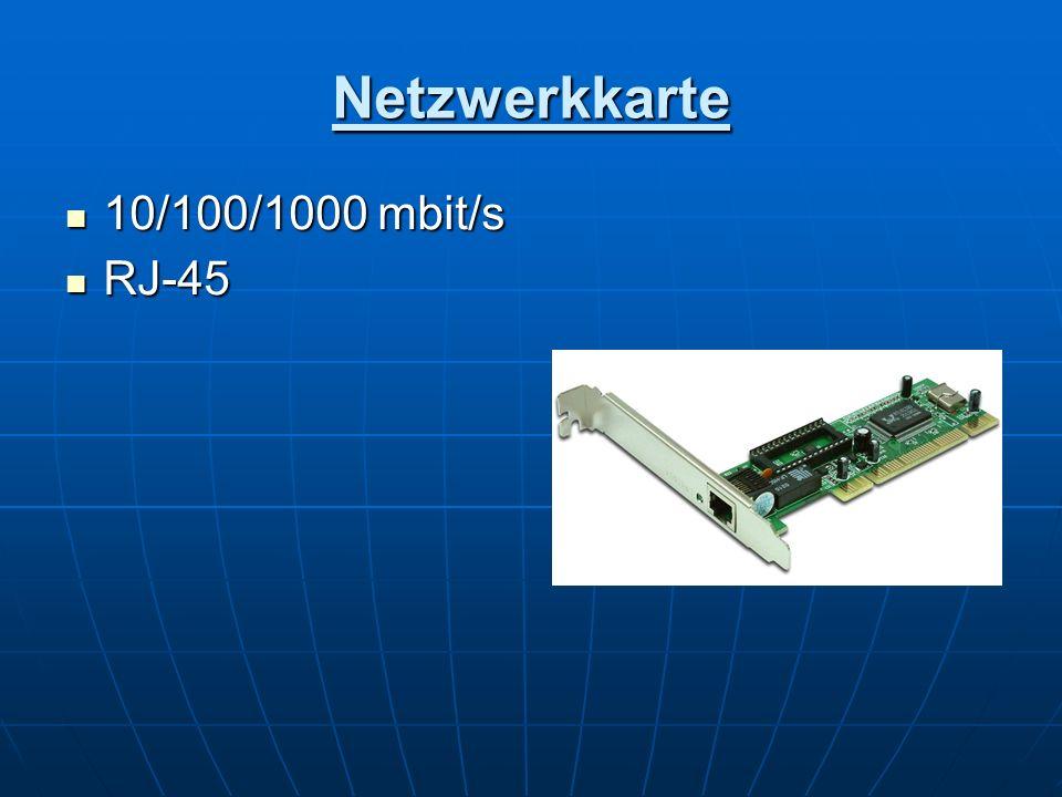 Netzwerkkarte 10/100/1000 mbit/s RJ-45