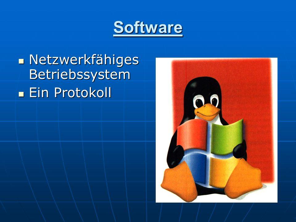 Software Netzwerkfähiges Betriebssystem Ein Protokoll