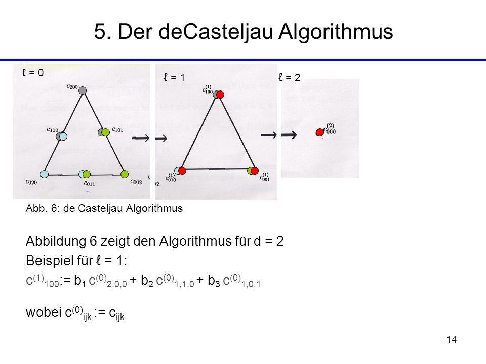 5. Der deCasteljau Algorithmus