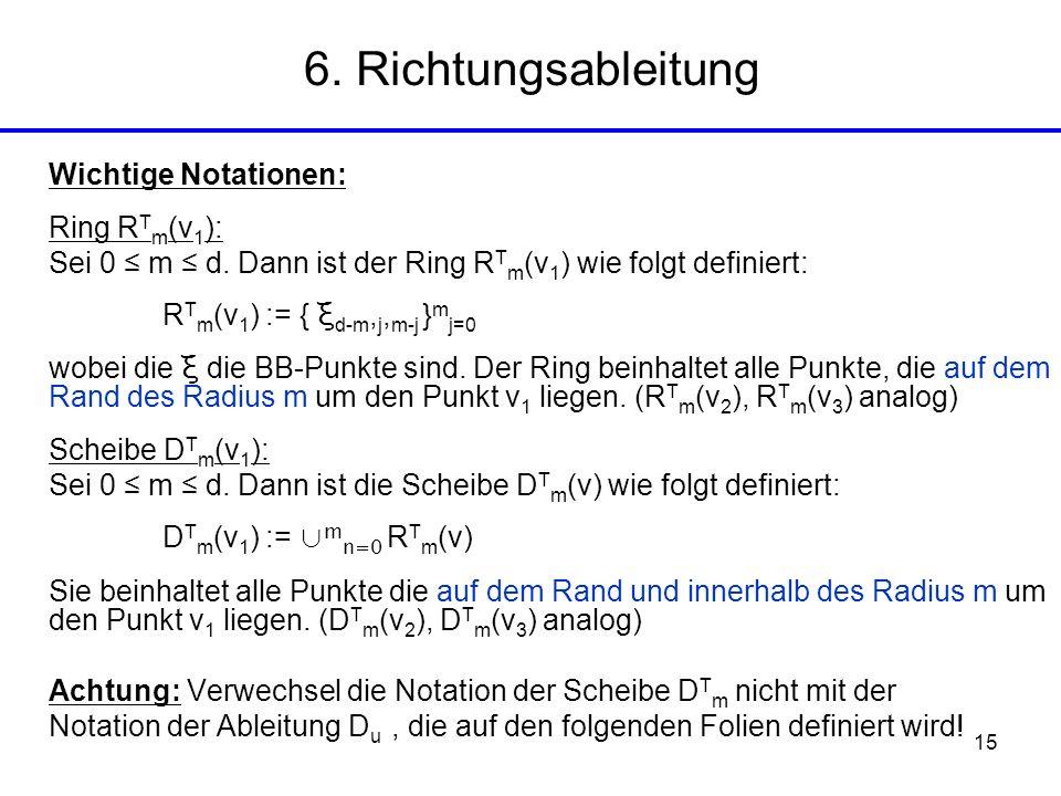 6. Richtungsableitung Wichtige Notationen: Ring RTm(v1):