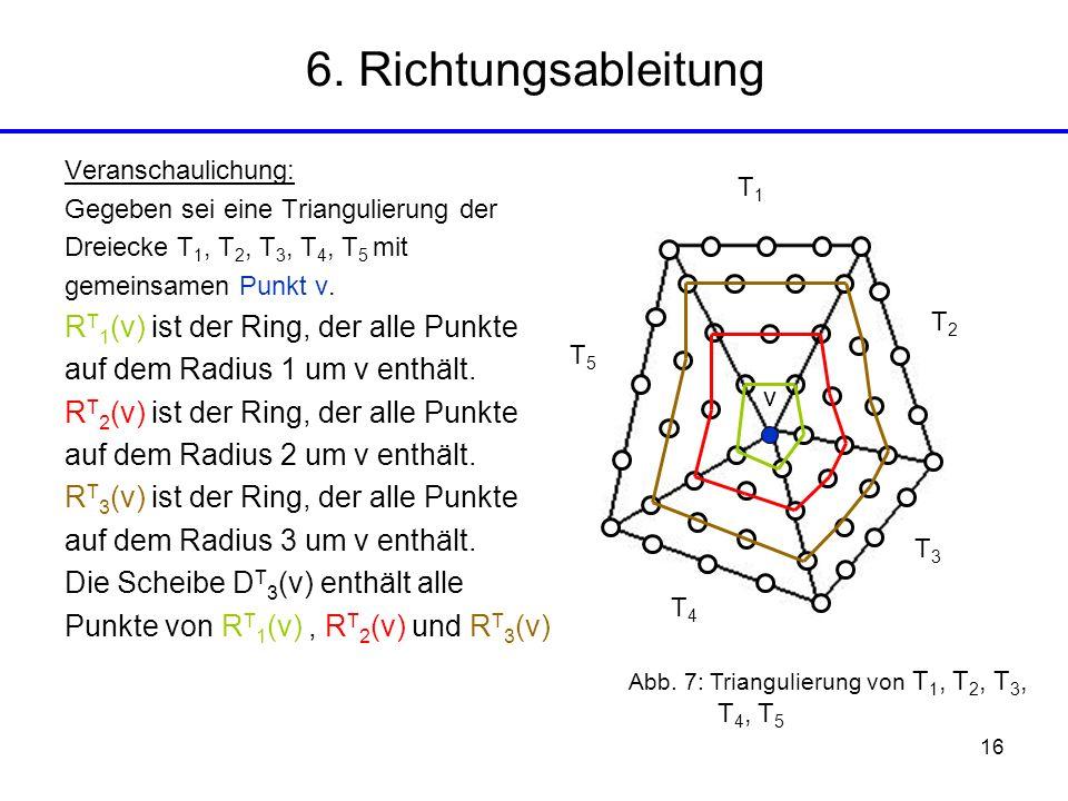 6. Richtungsableitung RT1(v) ist der Ring, der alle Punkte