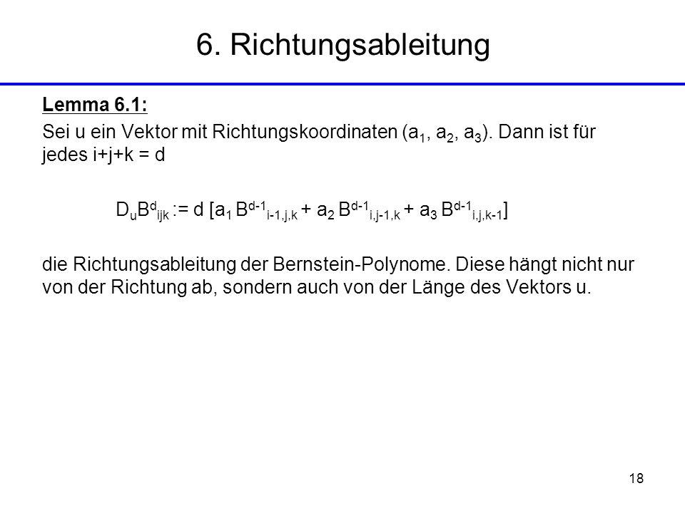 6. Richtungsableitung Lemma 6.1: