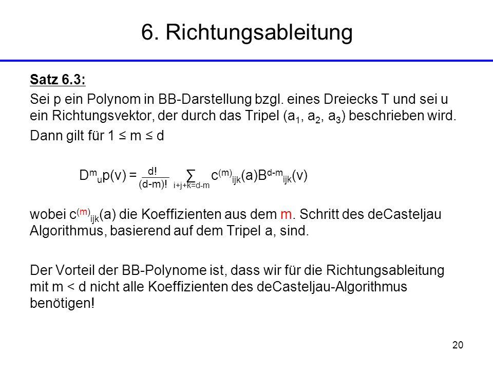 6. Richtungsableitung Satz 6.3: