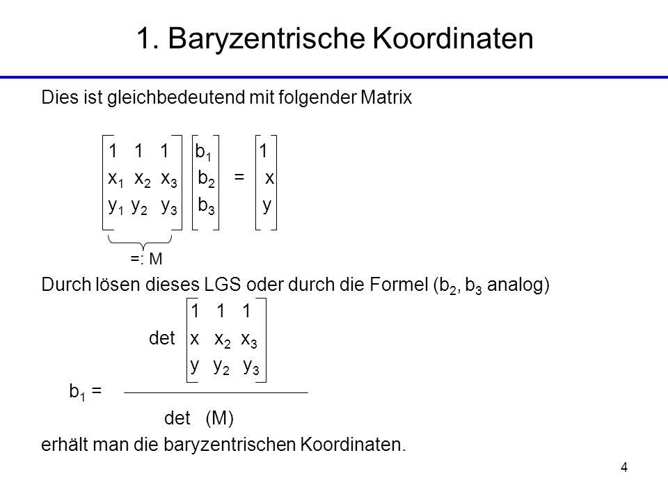 1. Baryzentrische Koordinaten