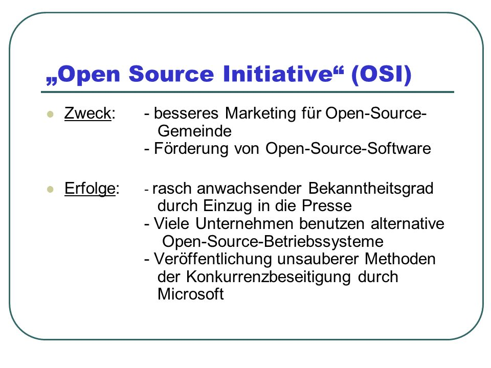 """Open Source Initiative (OSI)"