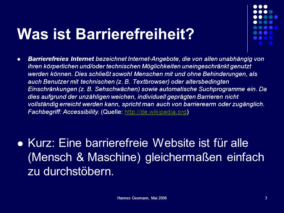 Was ist Barrierefreiheit