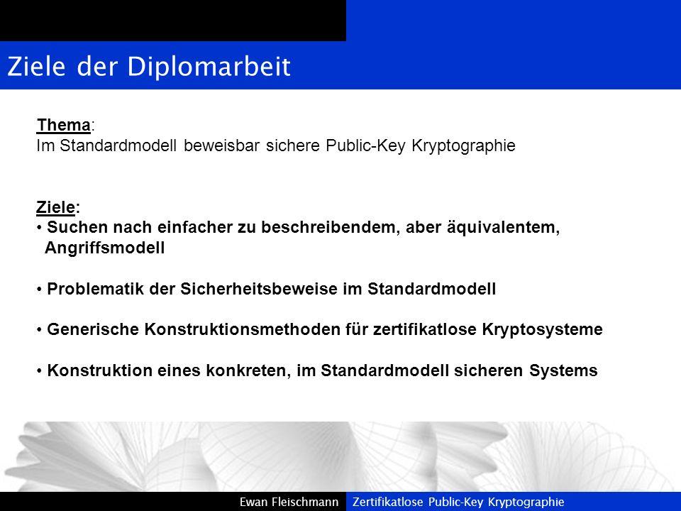 Ziele der Diplomarbeit