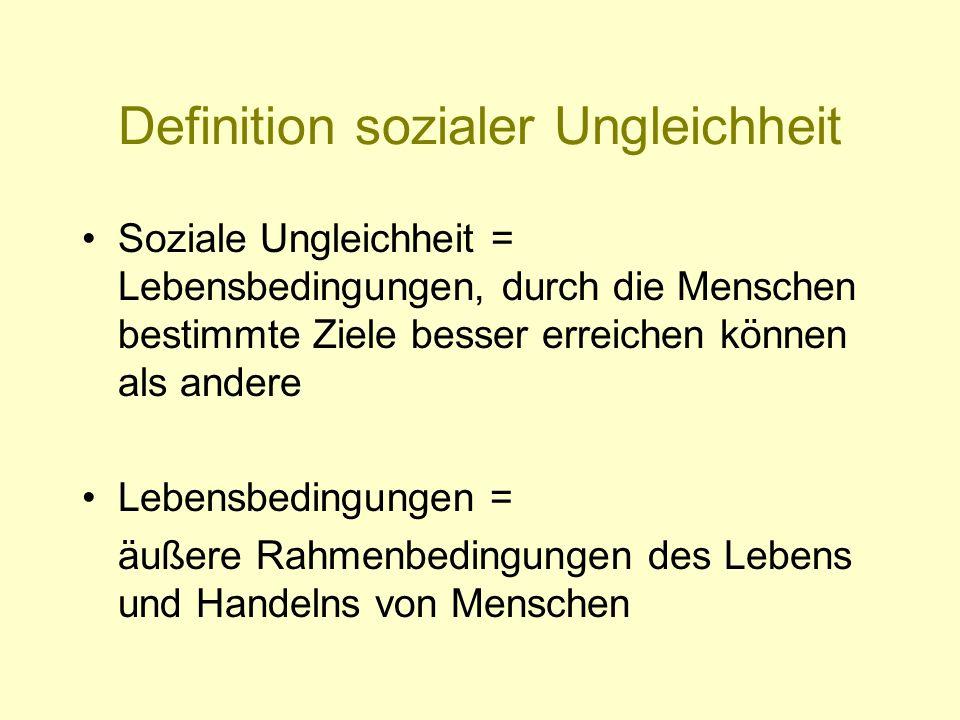 Definition sozialer Ungleichheit