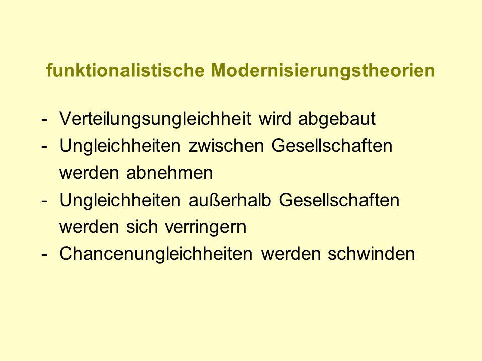 funktionalistische Modernisierungstheorien