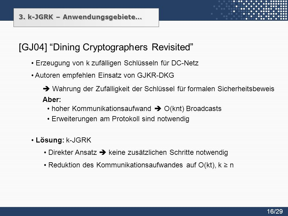 [GJ04] Dining Cryptographers Revisited