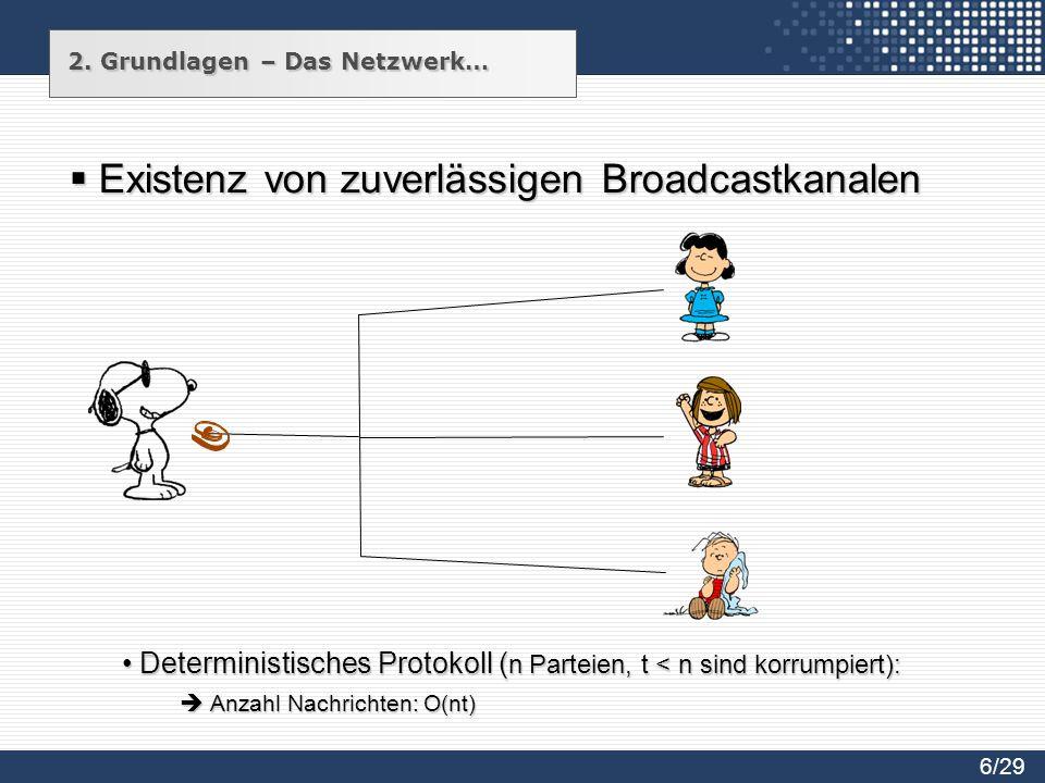 Existenz von zuverlässigen Broadcastkanalen