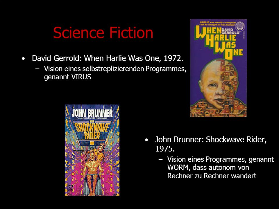 Science Fiction David Gerrold: When Harlie Was One, 1972.