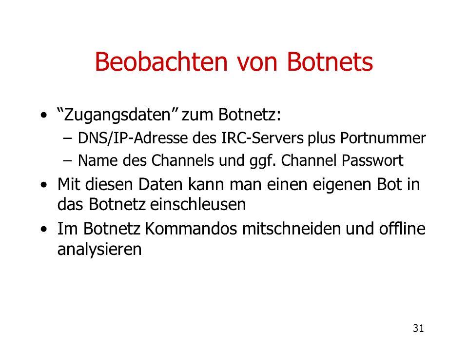 Beobachten von Botnets