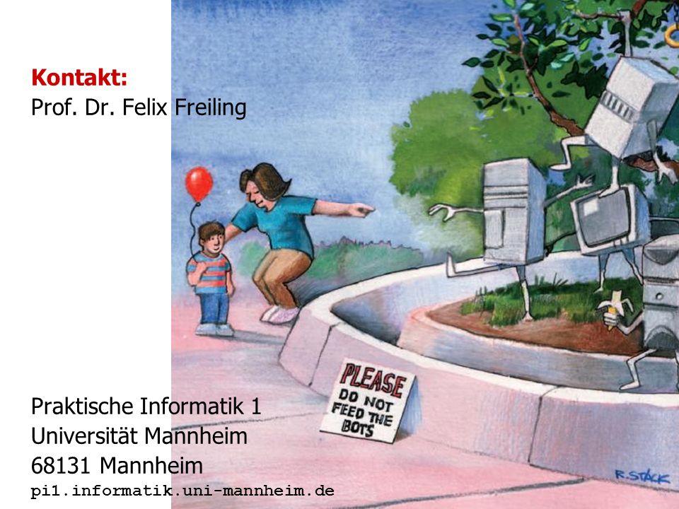Praktische Informatik 1 Universität Mannheim 68131 Mannheim