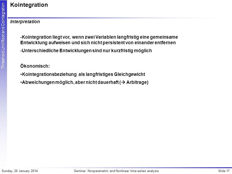 Kointegration Interpretation