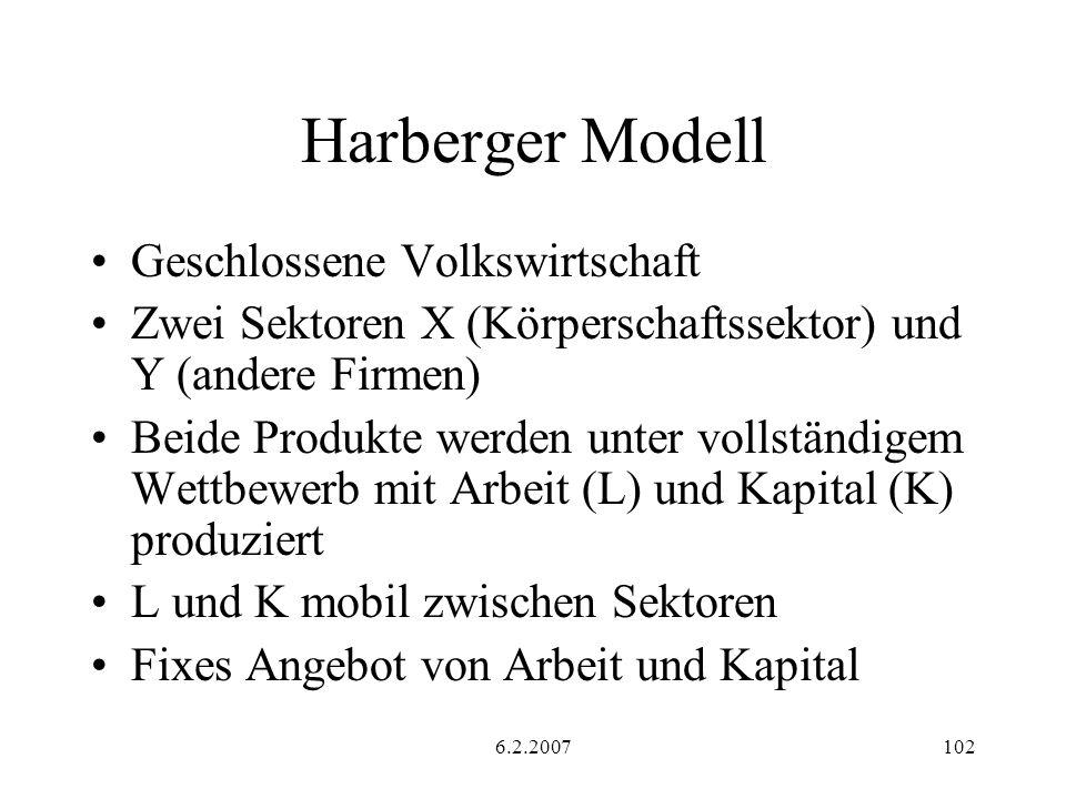 Harberger Modell Geschlossene Volkswirtschaft
