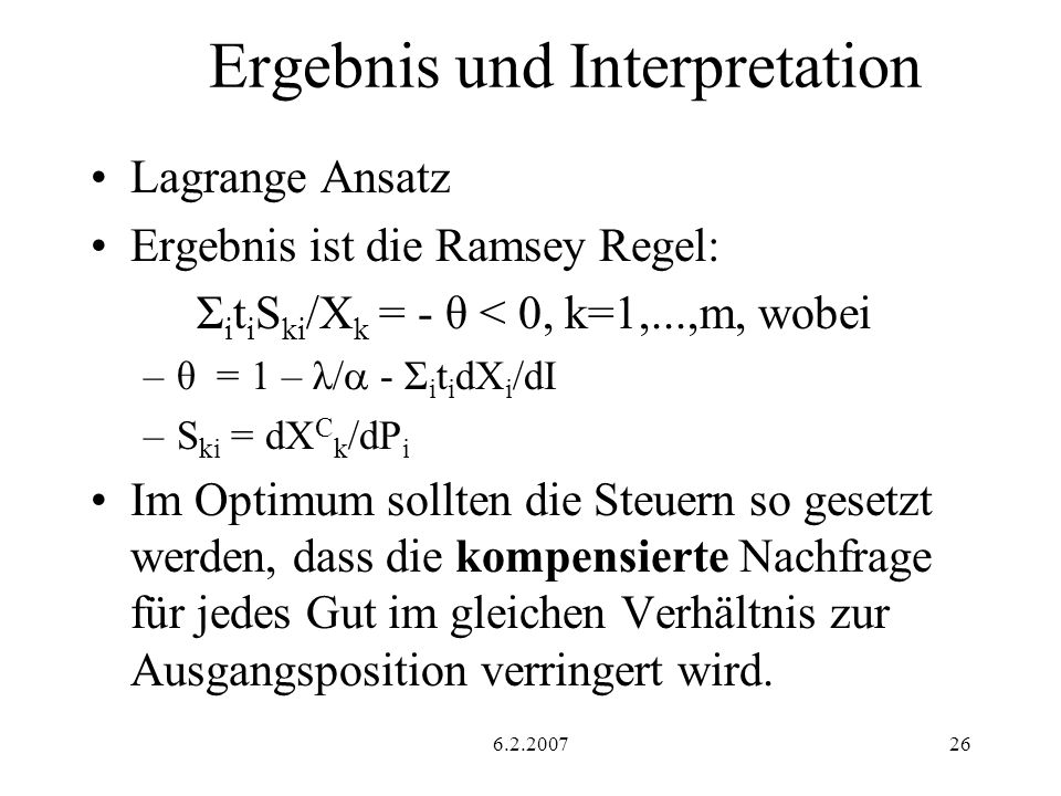 Ergebnis und Interpretation