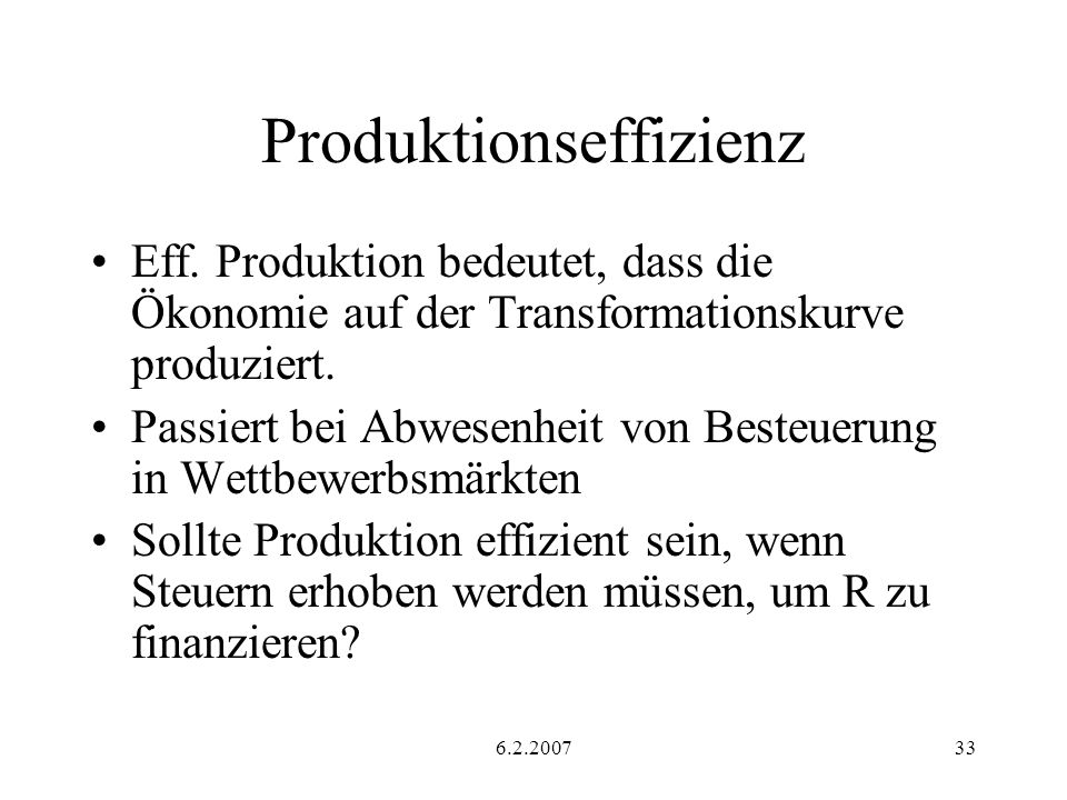 Produktionseffizienz