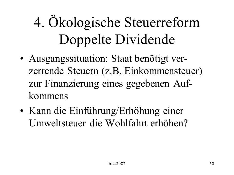 4. Ökologische Steuerreform Doppelte Dividende