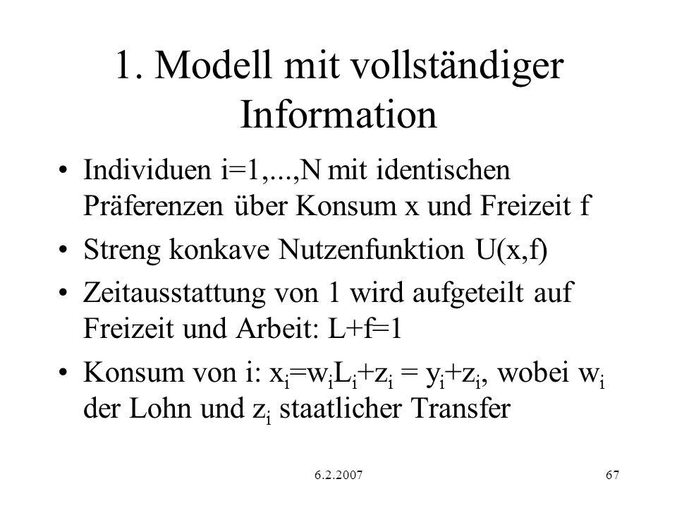1. Modell mit vollständiger Information