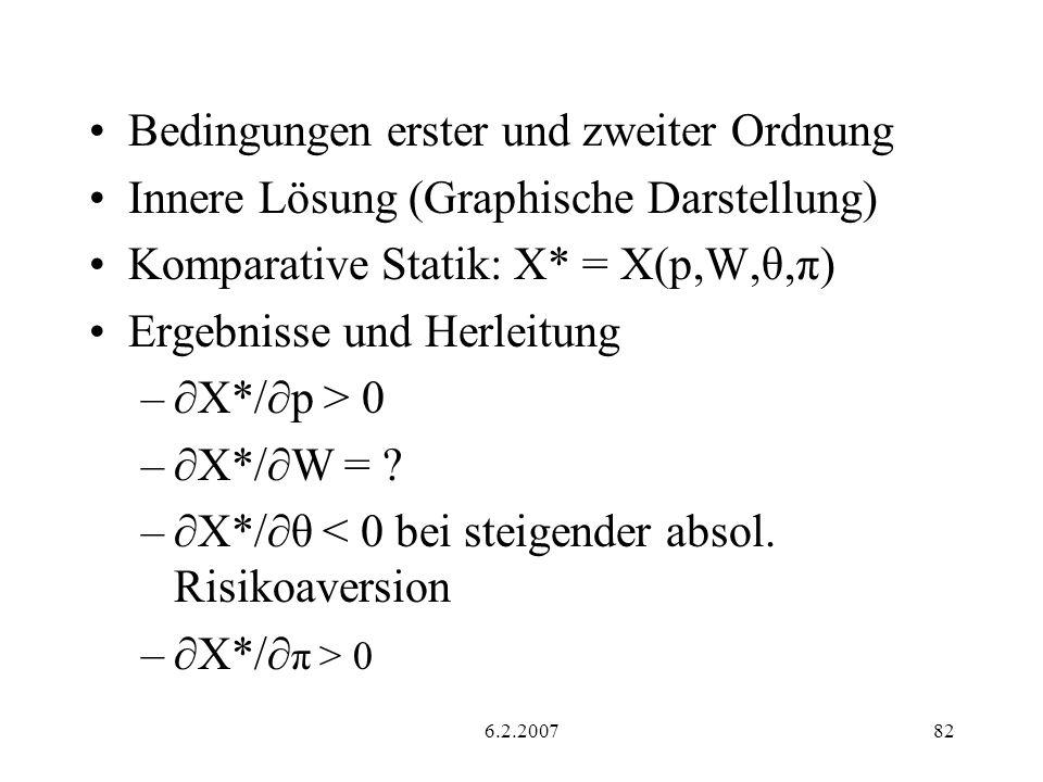 Bedingungen erster und zweiter Ordnung