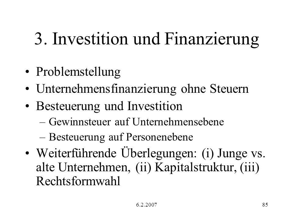 3. Investition und Finanzierung