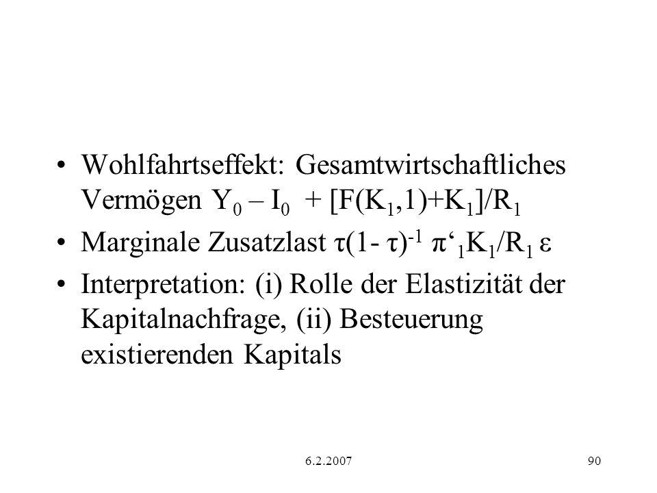 Marginale Zusatzlast τ(1- τ)-1 π'1K1/R1 ε
