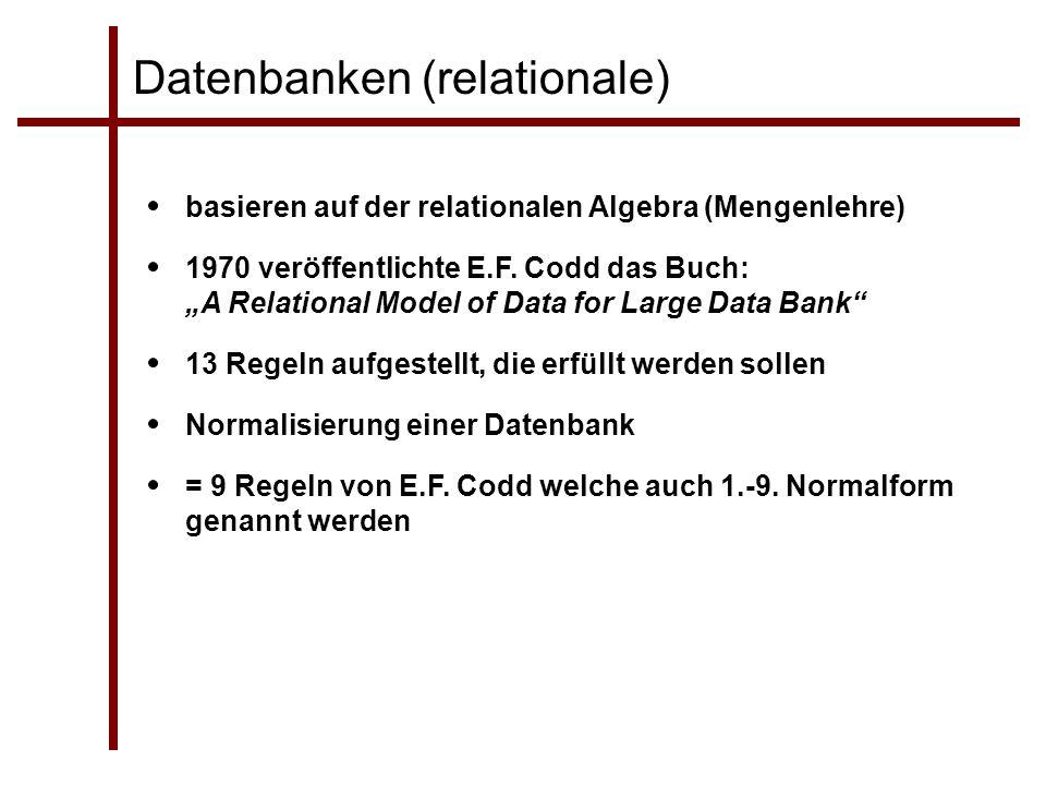 Datenbanken (relationale)