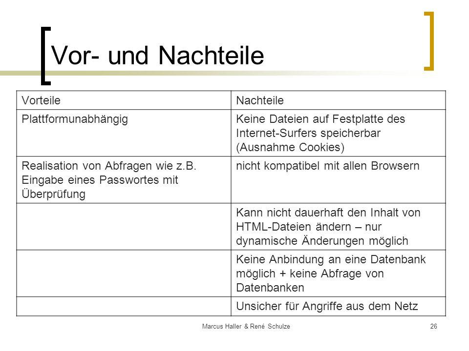 Marcus Haller & René Schulze
