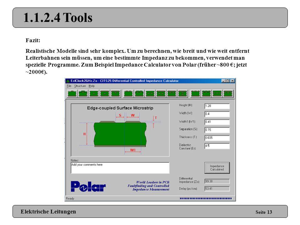 1.1.2.4 Tools Fazit: