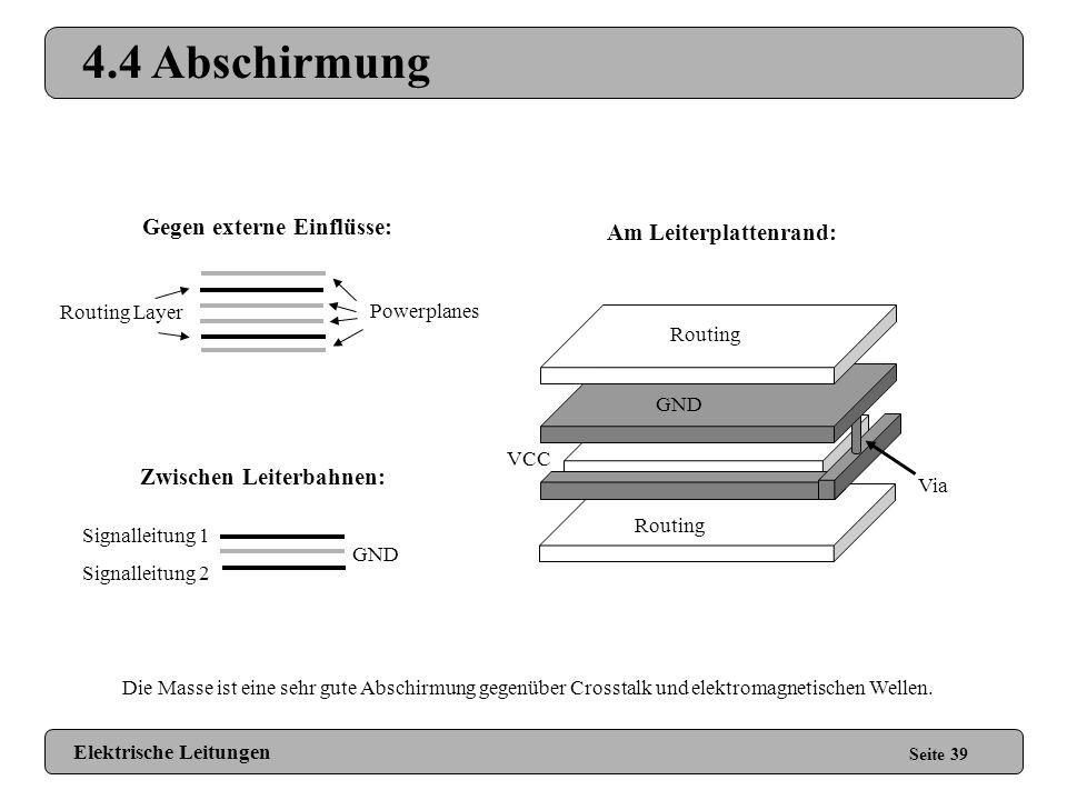 4.4 Abschirmung Gegen externe Einflüsse: Am Leiterplattenrand: