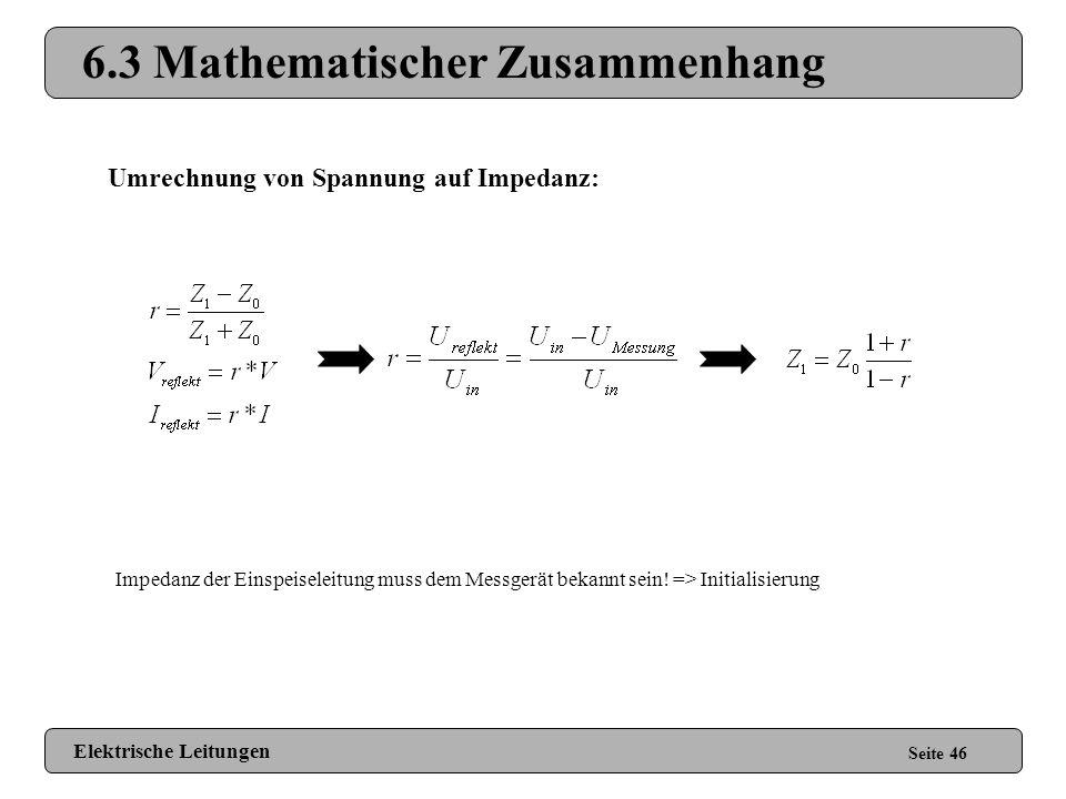 6.3 Mathematischer Zusammenhang
