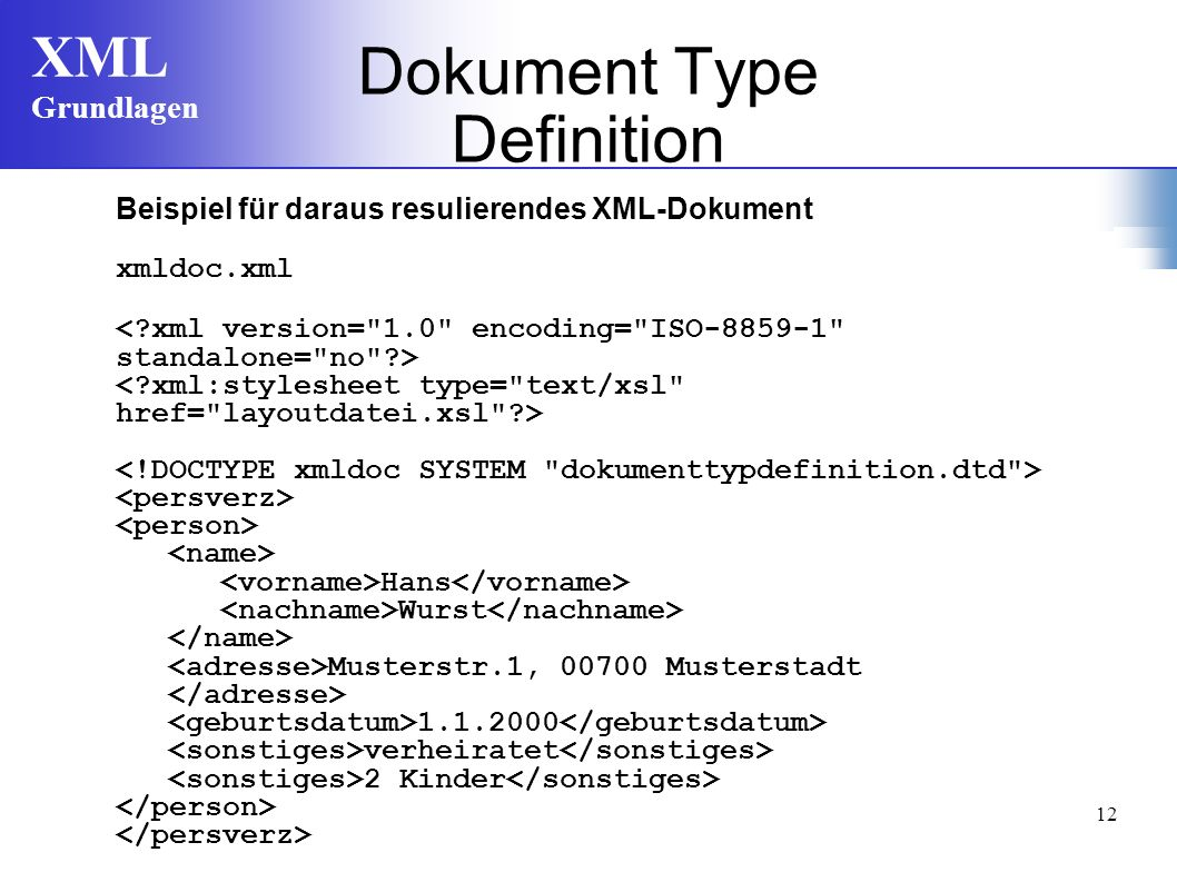 Dokument Type Definition