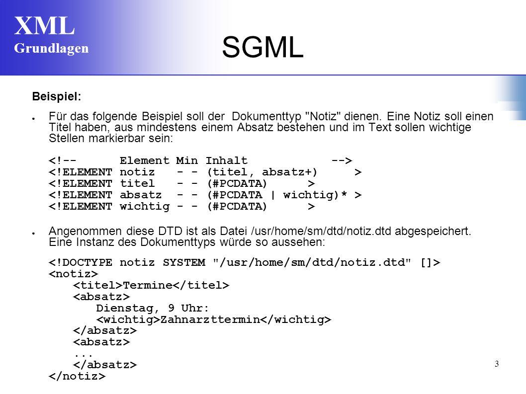 SGML Beispiel: