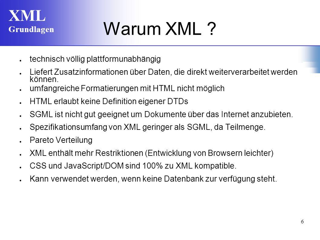 Warum XML technisch völlig plattformunabhängig