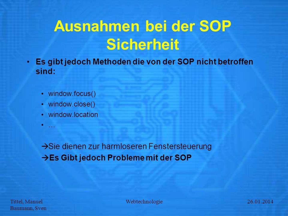 Ausnahmen bei der SOP Sicherheit