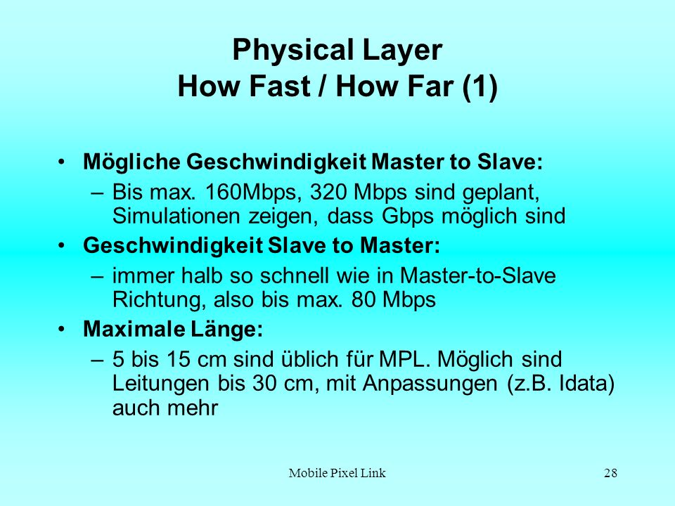 Physical Layer How Fast / How Far (1)