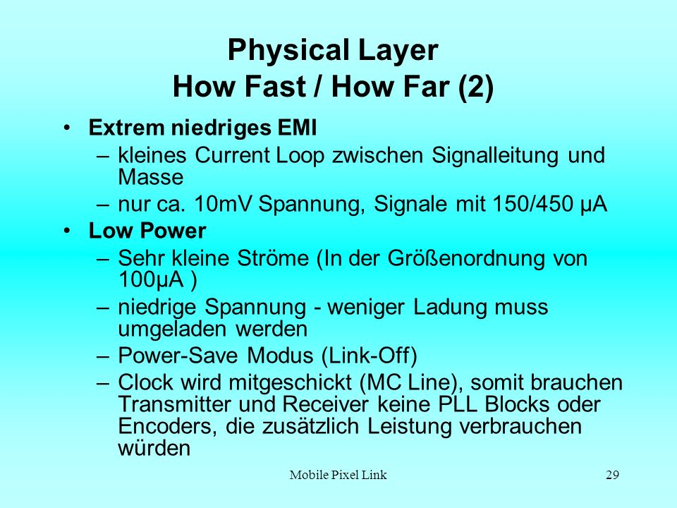 Physical Layer How Fast / How Far (2)