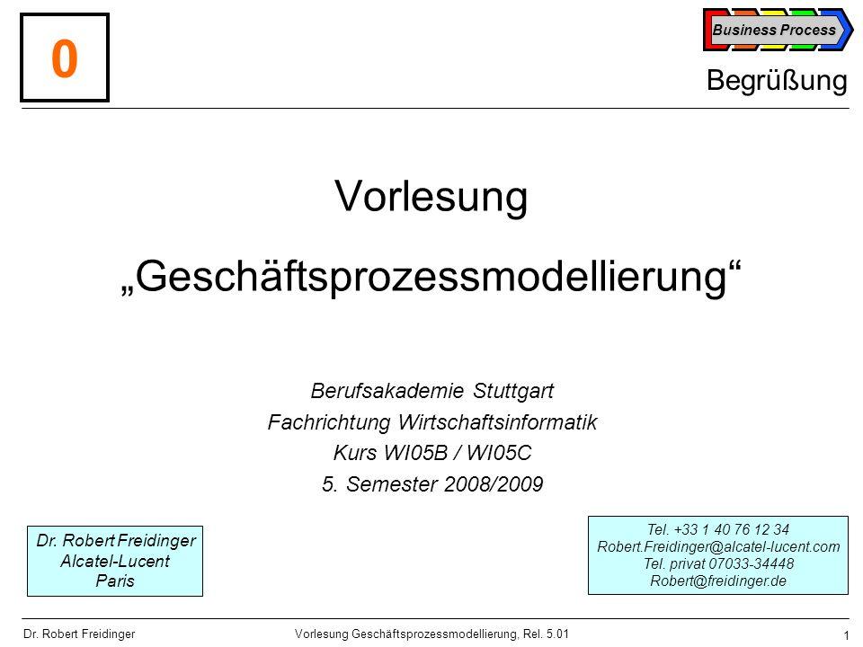 """Vorlesung """"Geschäftsprozessmodellierung"""