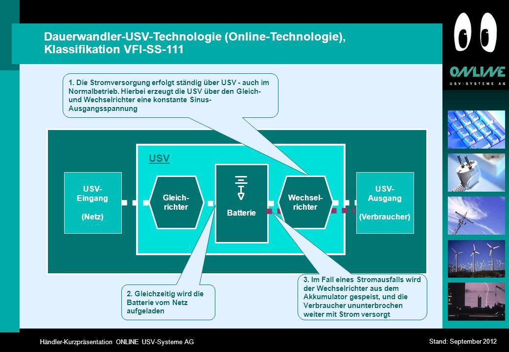 Dauerwandler-USV-Technologie (Online-Technologie), Klassifikation VFI-SS-111