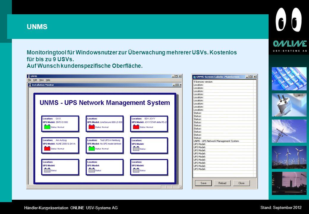 UNMS Monitoringtool für Windowsnutzer zur Überwachung mehrerer USVs.