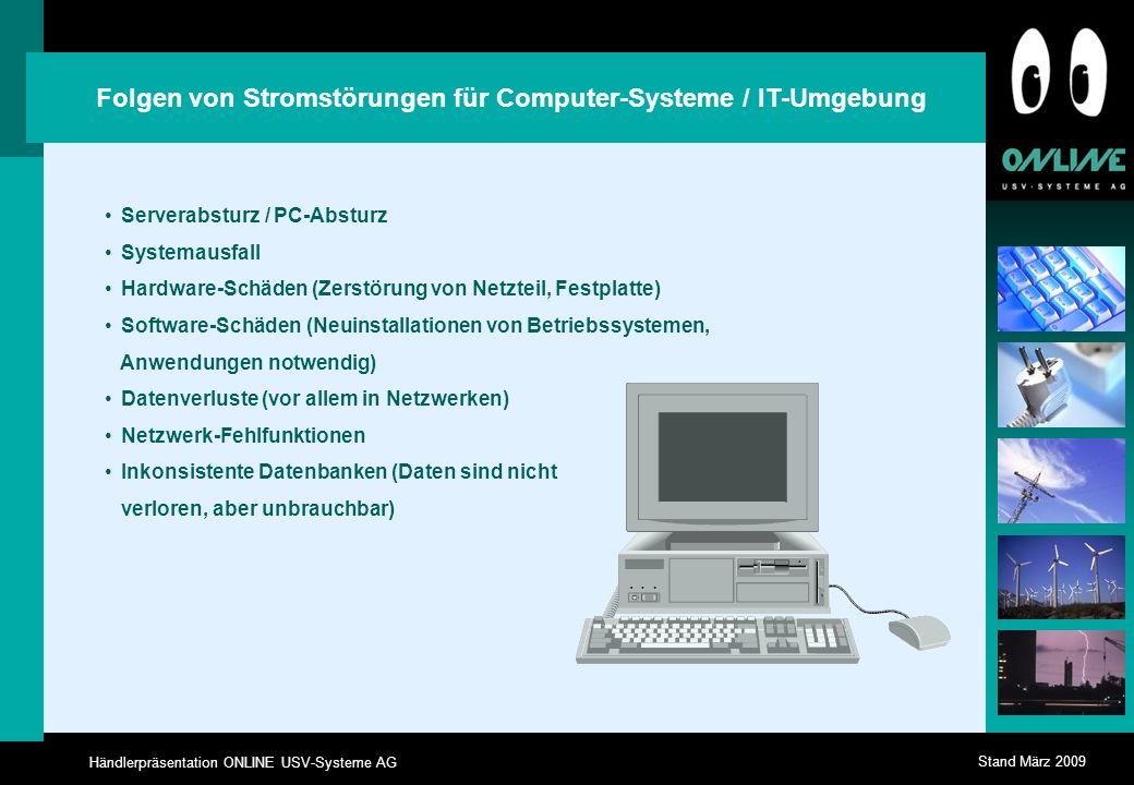 Folgen von Stromstörungen für Computer-Systeme / IT-Umgebung