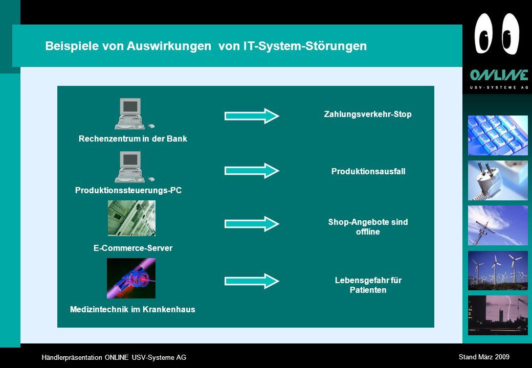 Beispiele von Auswirkungen von IT-System-Störungen