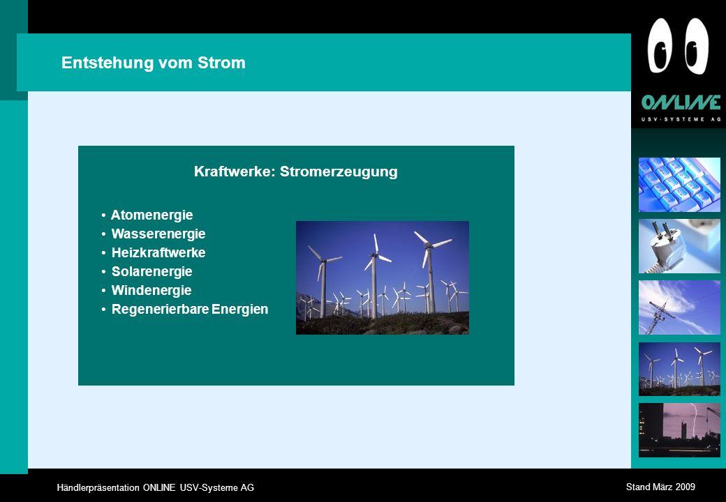 Kraftwerke: Stromerzeugung