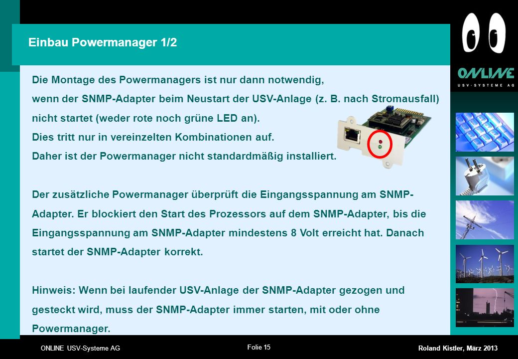 Einbau Powermanager 1/2