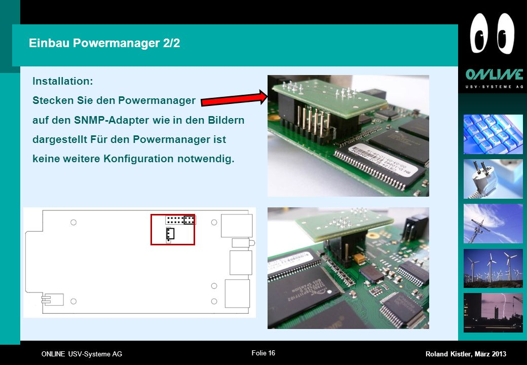 Einbau Powermanager 2/2 Installation: