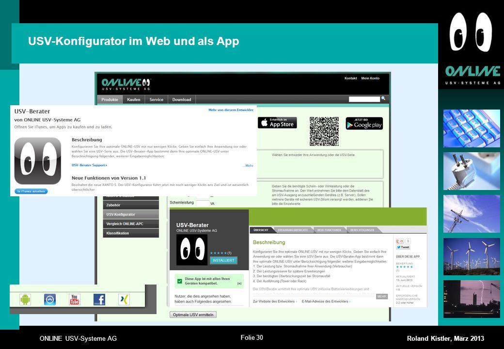 USV-Konfigurator im Web und als App
