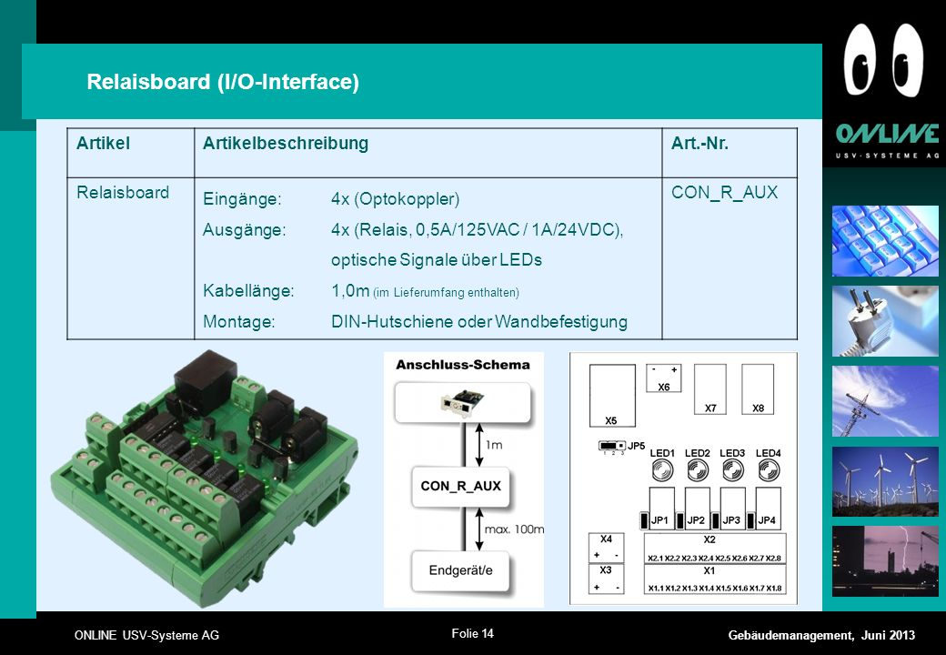 Relaisboard (I/O-Interface)