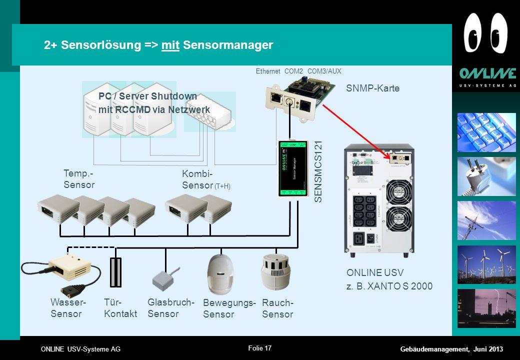 2+ Sensorlösung => mit Sensormanager